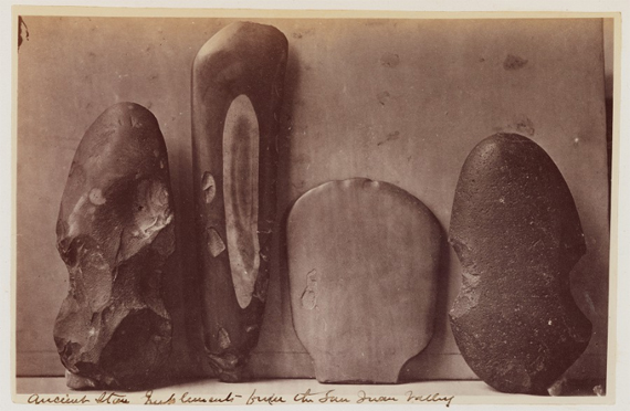 Photo of Ancient Stone Implements from the San Juan River Valley [ca. 1875] from the Princeton University Library