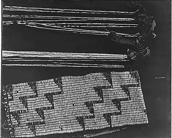 Detail of wampum belts, from the Smithsonian Institution. Bureau of American Ethnology. 1897-1965
