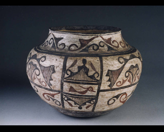 Zuni Olla from the John Wesley Powell Collection of Pueblo Pottery at Illinois Wesleyan University